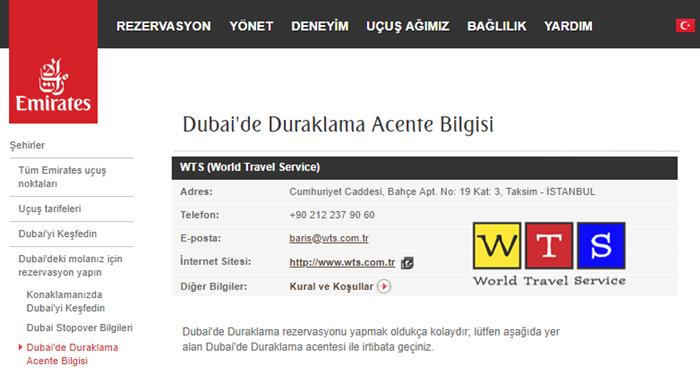 WTS Emirates Dubai Stopover