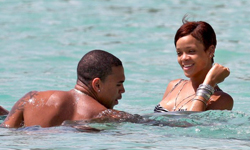 Rihanna ve Chris Brown Barbados Turu